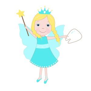 Cute tooth fairy vector